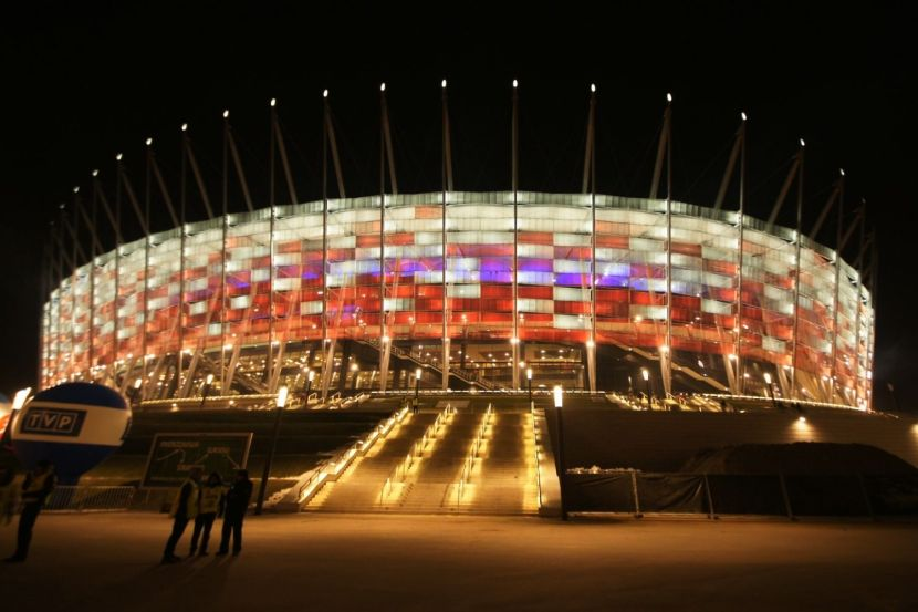 National stadium in Warsaw, site of the UN climate change negotiations (COP19).