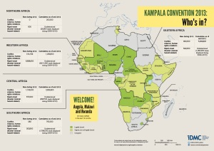 Kampala Convention in 2013 map